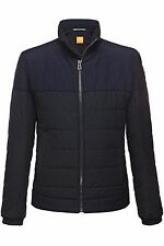 Hugo Boss AG Orange Oskar-W Quilted Biker Jacket Cotten Blend lining Dark Blue