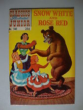 Classics Illustrated Junior #541 F Snow White And Rose Red