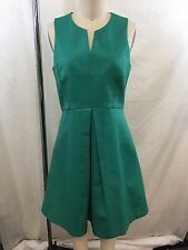 HALSTON HERITAGE GREEN FIT N FLARE OPEN BACK DRESS SIZE 6