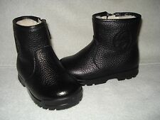 100% AUTHENTIC NEW GUCCI BOY/GIRL/KIDS SOHO BLACK SHEARLING BOOTS US 4 MO