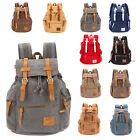 Men Women's Vintage Backpack Canvas Schoolbag Rucksack Travel Laptop Camping Bag