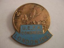 RARE OLD 1966 WORLD CUP UEFA CONGRESS LONDON ENAMEL BROOCH PIN BADGE