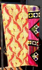 VINTAGE QUILTED FABRIC BATIK VELVET SILK COTTON INDOMESIA WITH FREE SHIPPING