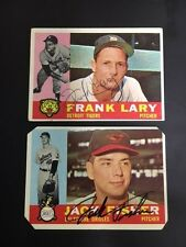 Frank Lary Signed  Autographed 1960 Topps Card Detroit with COA