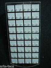 stock 36 coppie mini orecchini perla bianca 2 mm micro bigiotteria lotto rivendi