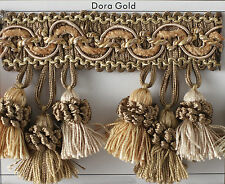 Various Colors Dora Tassel Fringe By The Yard for Draperies Polyester/Rayon