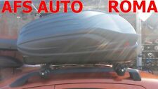 BOX AUTO PORTABAGAGLI G3 ALL-TIME 320 LT+BARRE PORTATUTTO FIAT PANDA 2008 C/RAIL