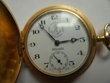1950 S Vintage Nivada Pocket Watch Ancre de Precision Hunter Special Edition