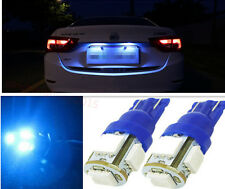 2pcs Aqua Blue 5 LED Car License Plate Tag Light T10 158 168 194 2825 921Bulb C8