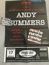 Andy Summers 100 X 67 Cm Promo Poster Live On Tour The Police (cd Not Included !