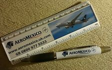 AEROMEXICO mexican airlines ballpoint pen and ruler very rare airline gift