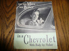1940 Chevrolet Safety Plate Glass Body by Fisher Brochure - Vintage
