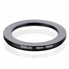 55mm-43mm 55mm to 43mm 55 - 43mm Step Down Ring Filter Adapter for Camera Lens