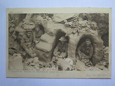 WORLD WAR I DAILY MAIL OFFICIAL POSTCARD TOMMY at HOME in GERMAN DUGOUTS No 29