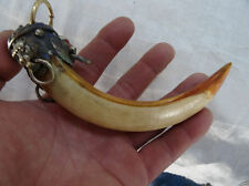 Lion a package boar tooth enamel antique town house to ward off bad luck!