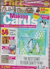 MAKING CARDS MAGAZINE JANUARY 2015, SEALED WITH FREE CRAFT PAPERS.