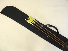 Traditional Archery CASE for UNSTRUNG RECURVE BOW  w/ bolt-on quiver  Black  66""