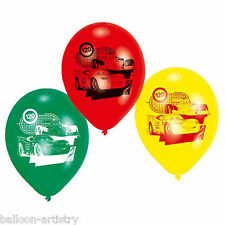"6 Assorted Disney's CARS Children's Birthday Party 9"" Printed Latex Balloons"