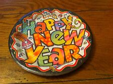 Unique Happy New Year Years Eve Party Plate Pizazz 8 Plates Platos Assiettes NEW