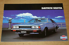 Catalogue DATSUN SILVIA de 1981
