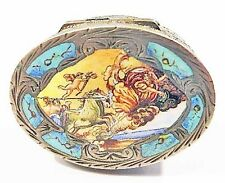 800 Silver+Enamel Box~Aurora/Eos Dawn Myth~Reni Italy~Painting Work of Art~BEST