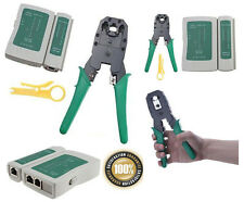 Combo Offer - RJ45 RJ11 CAT5 Network Cable Tester Crimping tool + Lan Tester