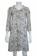 Roland Mouret Metallic Embroidered Coat / Light Grey, Silver / RRP: £1,695.00