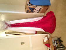 Brand New Wedding Dress White and Red Gown