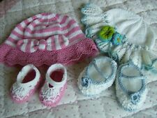 Baby Sun Hats/Sandals/Shoes in size 0-3m, 3-6m, 6-12m. Easy DK  Knitting Pattern