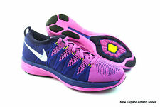 Nike womens Flyknit Lunar 2 running shoes size 9.5 - Pink / White / Purple