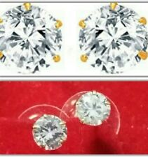 PREMIUM AAA QUALITY CZ AMERICAN DIAMOND SOLITAIRE DAILY PARTY  STUD EARRINGS