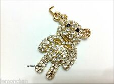 Crystal bear model pen drive 8GB USB 2.0 Memory Stick Flash Drive Flash Storage