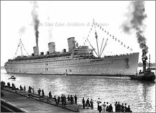 Photo: The Troopship Queen Mary After WW2 At Ocean Dock, August 11, 1945