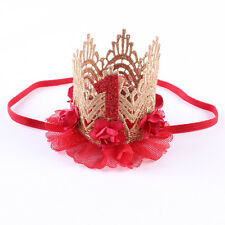 Kids Girl Baby Toddler Lace Flower Crown Headband Hair Band Accessories Headwear
