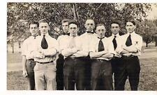 1920 Photo Olney College French Class Cool Guys Barnesville OH Quakers Friends
