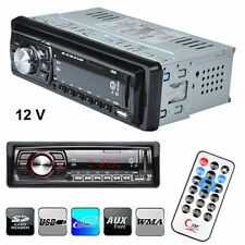 12V CAR IN-DASH AUDIO FM RECEIVER 1 DIN STEREO REMOTE MP3 PLAYER USB AUX SD MMC