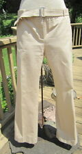 Size 12 BALLY COTTON khaki PANTS with BELT - EXTREMELY RARE AND UNUSUAL FIND!!