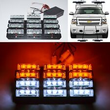 36 White/Amber LED Emergency Hazard Flash Warning Strobe Dash/Grill/Bar Light N