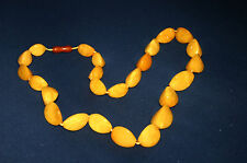 alte Bernstein Kette Art Deco Schliff necklace 83 gr Butterscotch Amber 琥珀