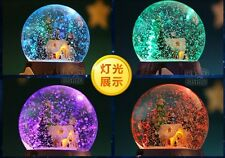 Led Light With Snow Crystal Ball Music Box with 29 SONGS