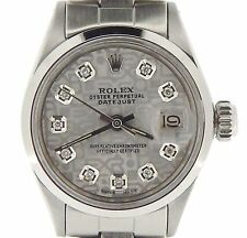 Rolex Datejust Lady Stainless Steel Watch Oyster Silver Anniversary Diamond 6916