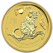 2016 1 kilo Gold Lunar Year of the Monkey BU - SKU #92748