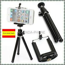 MINI TRIPODE EXTENSIBLE + SOPORTE ADAPTADOR UNIVERSAL  htc lg iphone samsung