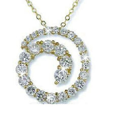 BIG & BOLD Circle of Love Cz Cubic Zirconia Pendant Necklace Slide Chain Gold Pl