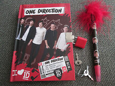 Official One Direction Hardback 1D Lock Diary with Padlock 2 keys & Fluffy Pen