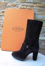 Tods Tod´s Gr 38,5 Stiefel Stiefeletten Plateau Boots dunkelbraun neu UVP 660 €