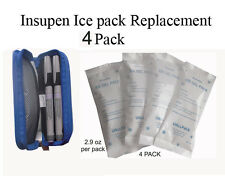 Insulin Cooler pocket Ice Pack Replacement-4 Pack(cooler pocket not included)