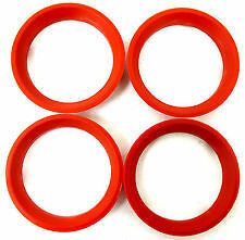 SET OF 4 X 66.6MM TO 57.1MM SPIGOT RINGS FOR VW/AUDI/SKODA/SEAT