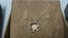 "Welsh Clogau Silver & Rose Gold Lady Snowdon Diamond Pendant 21"" Chain RRP £129"