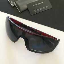 Porsche Design Eyewear P8527 Mens Red Gray Mirror Lens Shield Sunglasses NWT